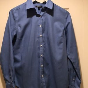 Lands End classic blue blouse